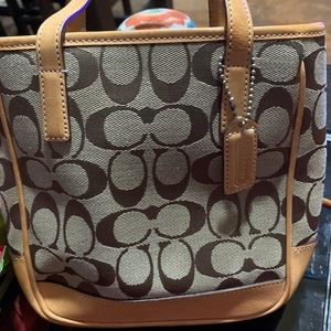 Mini signature Coach bag